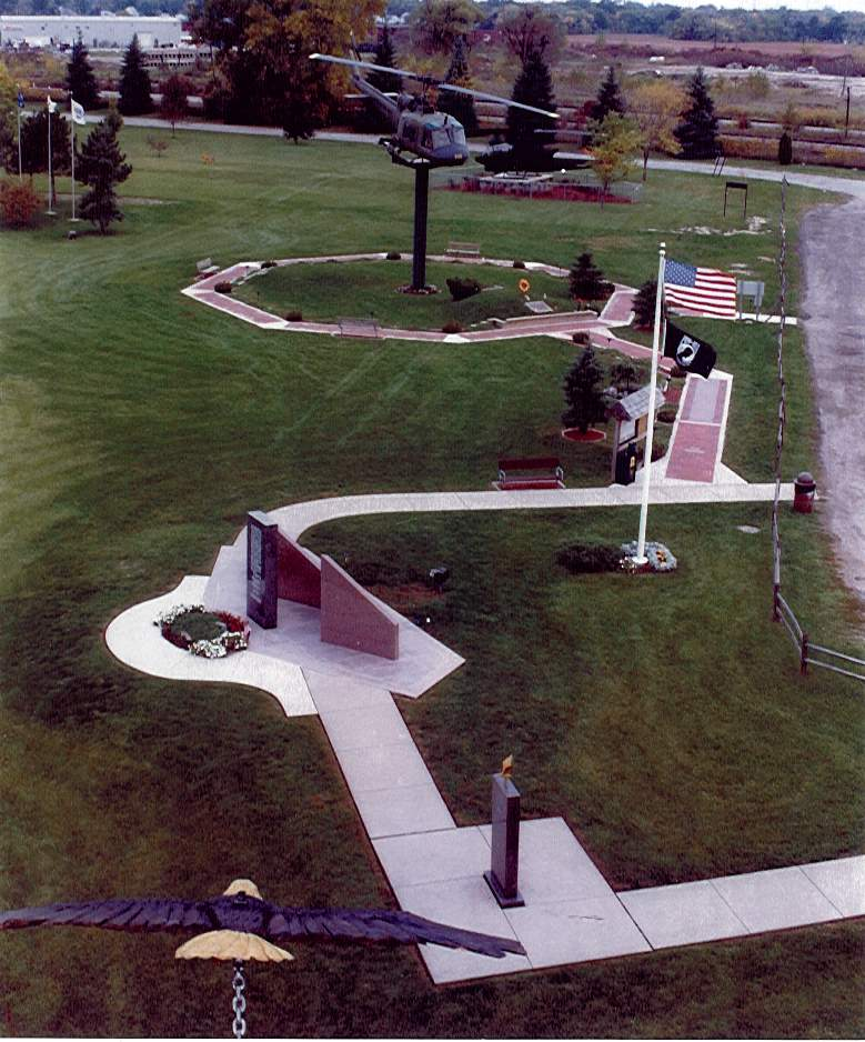 Eagle's eye view of Heck Park, the 'sacred ground' of the Vietnam Veterans of America Monroe Chapter LZ 142